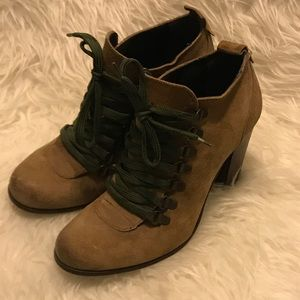 Boutique 9 Lace Up Leather Booties